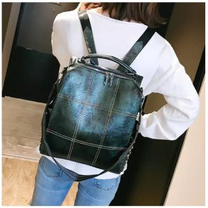 Backpack Pu leather green