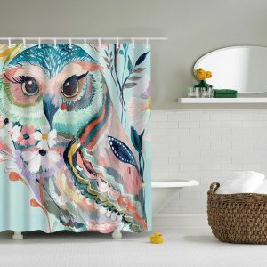shower curtains-beautiful owl