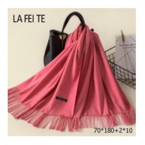 Scarf unisex coral pink