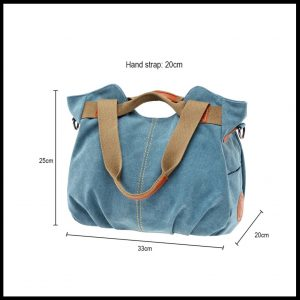 Casual vintage totebag size chart