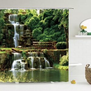 Shower Curtains Forest+Stone- Double Cascades 180 x 180cm