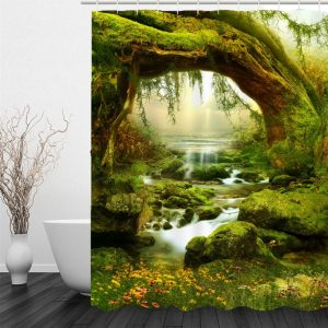 Shower curtains forest+stone-ancient forest NO GTIN/UPI