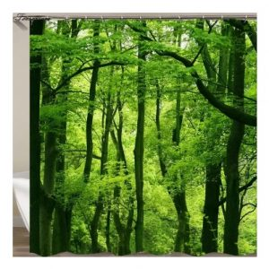 Shower Curtains Forest+Stone green forest-100880399285183 -tp310