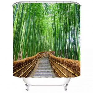 Shower curtains forest and Stone Bamboo forest