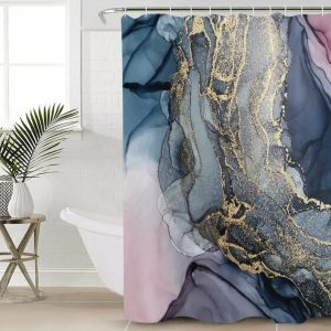 Shower curtains forest+stone-geology-XM2GC4070922