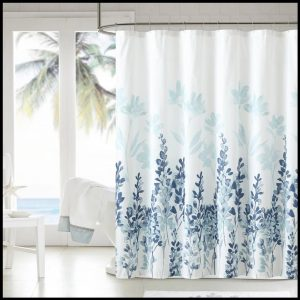 Shower curtains forest and stone series - blue notes-no barcode