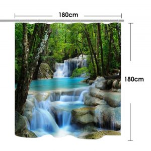 Shower curtains forest+stone waterfall- 98413570055183. ? GTIN/UPI