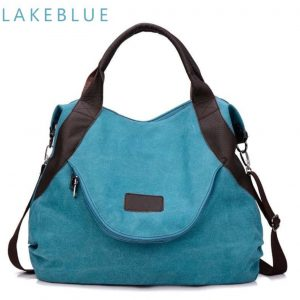 Fashion Womens Big bag - Lake blue large