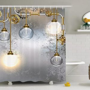 Industrial Shower Curtains- light globes