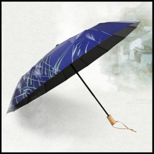 Quality umbrella UVF50+16 rib blue grass