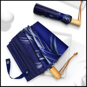 Quality umbrella UVF50+ 16 rib blue grass