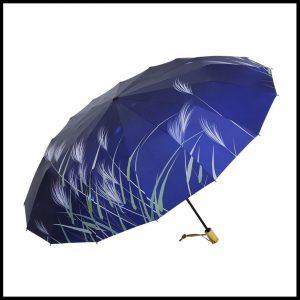 Quality umbrella UVF50+16rib-blue grass