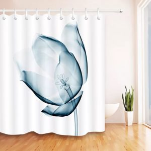 Unique shower curtain-x-ray-tulip -nobarcode