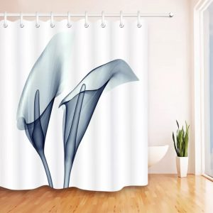 Unique shower curtain x-ray arum-no barcode