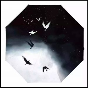 anti-UV umbrellas -wild geese