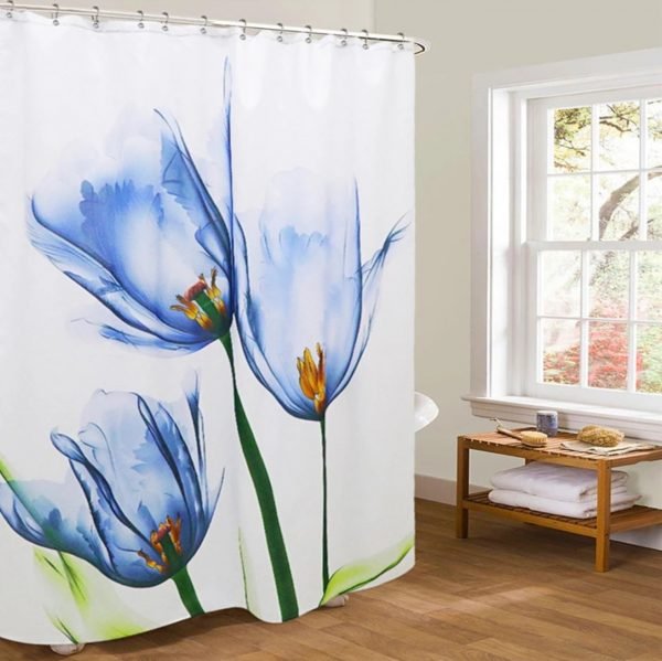 Unique shower curtain xray blue-no barcode