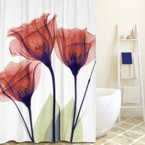 Unique shower curtain xray red-6-735265-011204