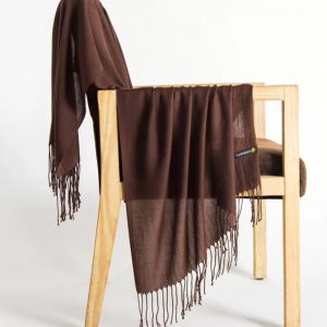 Best scarves for spring- chocolate