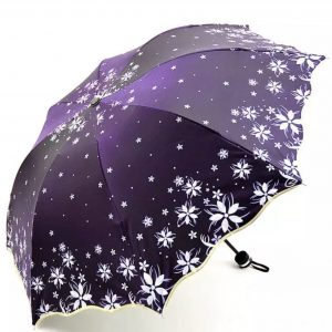Umbrellas flower themed- Rich Purple Sheen Flower