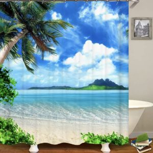 S/C Sea themed - Tropical Beach with Left Palm